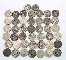 Lot Of 40 Shield Nickels 1866 1868 1870 Other Dates Us 5C United States 10352-8