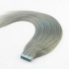 12AA RUSSIAN TAPE IN HAIR 40PCS 100G GREY SILVER FAST SHIP SILKY STRAIGHT