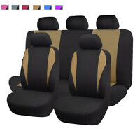 universal Car Seat Covers set washable Polyester Beige Toyota SUV truck van