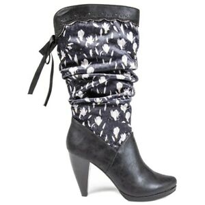 RUBY SHOO Womens Athena Heels Boots Black