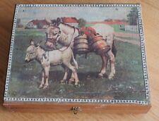ancienne boite de cubes animaux de la ferme  jouet ancien