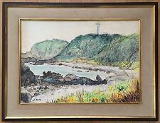 JAPAN, SANZO WADA (1883-1968) ORIGINAL PEN & INK WATERCOLOR PAINTING ON PAPER