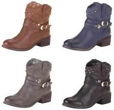 Markenlose Cowboystiefel ohne Verschluss mit mittlerem Absatz (3-5 cm) für Damen