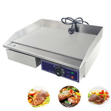 Stainless Steel Griddle Electric Flat Hotplate Plancha BBQ Oven for Panini Grill
