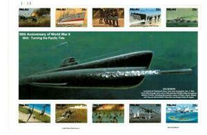 Palau - 1993 - WWII Submarine - Sheet of Ten - MNH