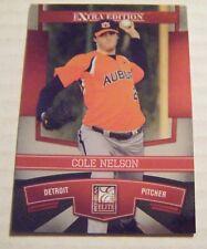 COLE NELSON AUBURN TIGERS 2010 Donruss Elite baseball card EDINA MN BOONE IA #82