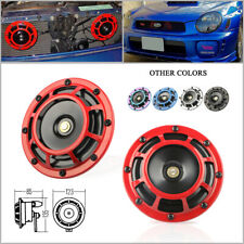 2 Red Color Super Loud Blast Tone 12V Grille Mount Compact Car Horns 335-400