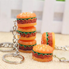Nice Hamburger Key Chain Ring charm Pendant Bag Purse Food Keyring Lady JewelHK