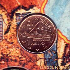 Grèce 2012 - 1 Centime d'euro 20 000 exemplaires Provenant du coffret BU RARE -