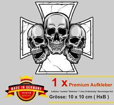Auto Aufkleber Totenkopf Skull Schädel iron cross eisernes Kreuz Biker Sticker