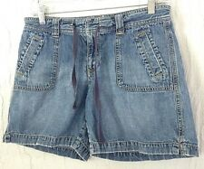 OLD NAVY blue denim casual Shorts tag size 4 actual W29 L6 rise 8.5
