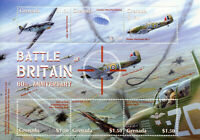 Grenada Stamps 2000 MNH WWII WW2 Battle of Britain Hawker Hurricane 6v M/S I
