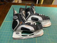 Unused Pair Easton Synergy 200 Ice Hockey Skates Men's Size 8 Black Silver New