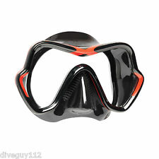 Mares One Vision Sunrise Mask FreeDive Scuba Diving Dive White Black Red