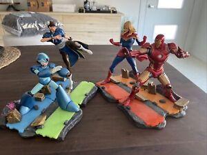 Marvel Vs Capcom Infinite Statues Iron Man Captain Mega Man Chun Lee Figures