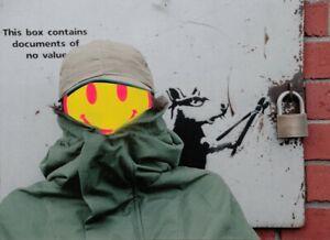 Anonymous Three - by Steve Lazarides - Banksy Portrait - 1 of 10 - ORIGINAL RARE
