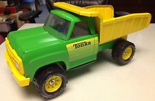 ** TONKA TOYS DUMP TRUCK GREEN YELLOW BEAUTIFUL **