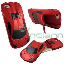 Custodia per iPhone 6 6S 4.7'' cover rigida AUTO sportiva STAND rossa macchina