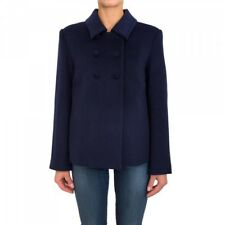 Era £ 320 BNWT Anna Molinari Designer Blumarine Blugirl Lana Cappotto Giacca Taglia 12
