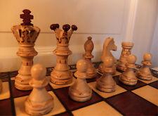 Schach Edles Schachspiel aus Holz Schachbrett 54 x 54 cm mahagoni, Handarbeit