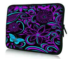 "11.6"" 12"" Purple Swirl Soft Neoprene Laptop Sleeve Case Netbook Bag Pouch Cover"