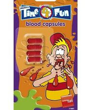 Fancy Dress Fake Blood Capsules Pack of 4 Vampire Blood Joke New by Smiffys