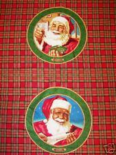 Daisy Kingdom Cotton Fabric Century of Santa Pillow Panel 4 Pillow Tops