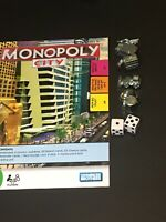 MONOPOLY CITY Game 2008 FULL SET METAL TOKENS & Dice Replacement Pieces Parts