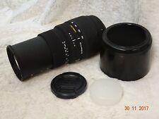 SIGMA 70-300 mm f/4-5.6 DG Macro Lente Zoom Telefoto-Para Nikon Con Capucha + Gorra