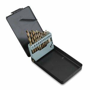 13Pc Cobalt Drill Bit Set Twist Jobber Length for Hardened Metal Stainless Steel