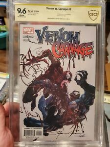 Venom Vs Carnage #1 CBCS 9.6 1st appearance Toxin signed by Clayton Crain