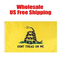 Wholesale Gadsden Don't Tread on Me Flag 3x5' Feet House Banner Super Polyester