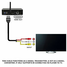 Home HDTV 1.5M 5Ft HDMI To RCA Video Audio AV Component Converter Adapter Cable