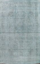 Antique Traditional Overdyed Distressed Area Rug Evenly Low Pile Handmade 8x11