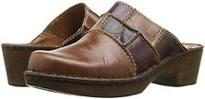 JOSEF SEIBEL Ladies 'REBECCA 33' Clogs  Patchwork BRANDY  Sz. 5.5 M (36 EU)  NIB