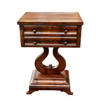 Antique American Empire Carved Mahogany Side Table