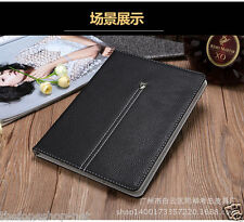 Premium Leather Ultra Thin Protective Case Shell Cover for iPad 2 / 3 / 4  BLACK