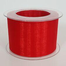 (0,50€/m) 2m Organza rot 70mm Schleifenband für Antennen  Hochzeit Basteln