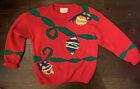 VTG Ugly Tacky Holiday Xmas Christmas Party Sweater L Pullover Ninon Heavy