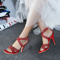 Stylish High Heels Sandals Open Toe Pumps Women's Shoes Plus Size Lady's