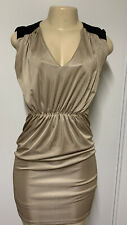 Kim Kardashian Kollection Dress Size Extra Small Cocktail Skirt Gold/Black Party