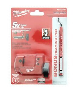 Milwaukee 1 in. Mini Copper Tubing Cutter with Reaming Pen 48-22-4251P