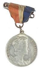1953 Isle of Man triskellis CORONATION OF ELIZABETH II aluminum 33mm ribbon