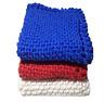 "Hand Knit Dish Cloths-Wash Cloths-Hand Cloths x 3 (8""x8"" & 9""x9"") 100% Cotton"