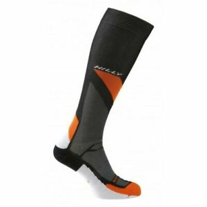 Hilly Marathon Fresh Calf Compression Running Socks - Grey/Orange/Black - *NEW*