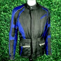 Richa Textile Black & Blue Motorcycle Jacket Mens Size UK Medium M 40 Chest
