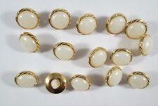 Knopf Knöpfe 15  stück   gold perle  knöpfe  13 mm groß   #1932#