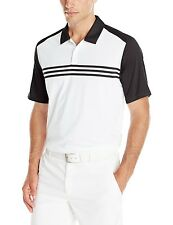 ADIDAS GOLF MEN'S SHIRT POLO CLIMACOOL ENGINEERED 3 STRIPES SIZE S NEW