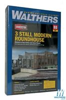 Walthers 933-2900 3-Stall Modern Roundhouse Kit HO Scale Train