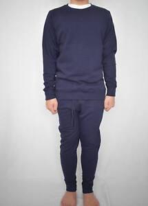 Mens Navy SLIM FIT Round Neck jogging suit Tracksuit Gym Wear relax suit